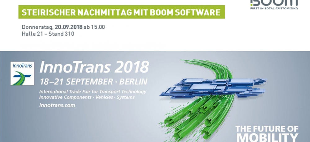 InnoTrans 2018 mit Boom Software